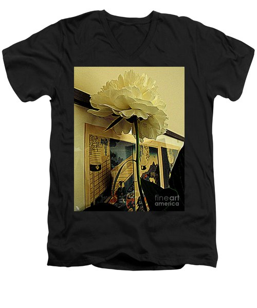 Standing Tall Men's V-Neck T-Shirt by Nancy Kane Chapman