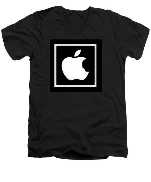 Steve Jobs Apple Men's V-Neck T-Shirt by Rob Hans