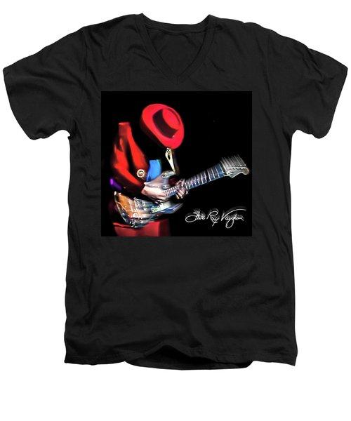 Stevie Ray Vaughan - Texas Flood Men's V-Neck T-Shirt