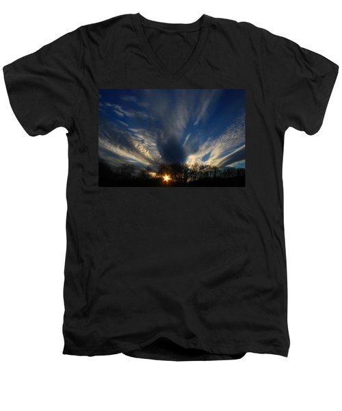 Sundown Skies Men's V-Neck T-Shirt by Kathryn Meyer