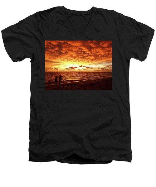 Sunset Before The Storm Men's V-Neck T-Shirt