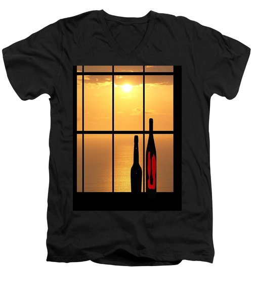 Men's V-Neck T-Shirt featuring the photograph Sunset In Hawaii by Athala Carole Bruckner