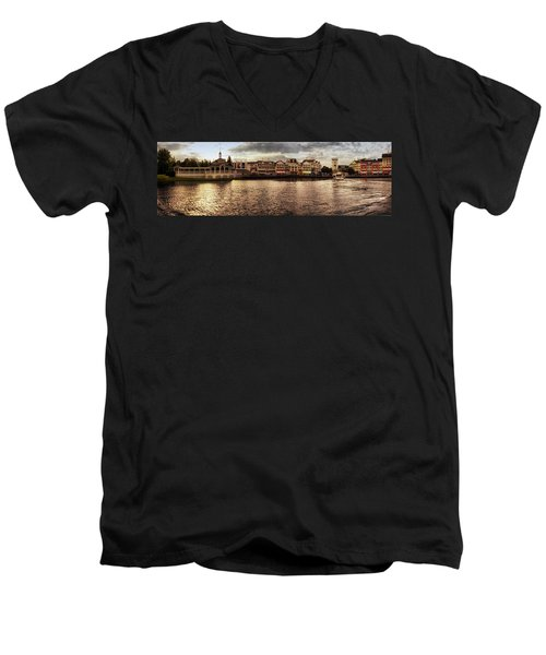 Sunset On The Boardwalk Walt Disney World Mp Men's V-Neck T-Shirt by Thomas Woolworth