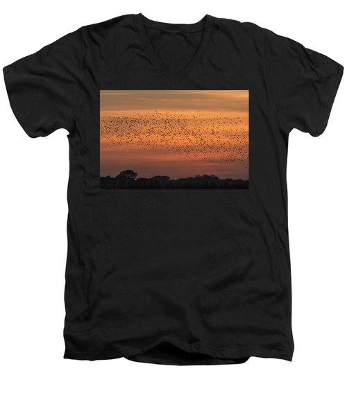 Sunset Starlings  Men's V-Neck T-Shirt