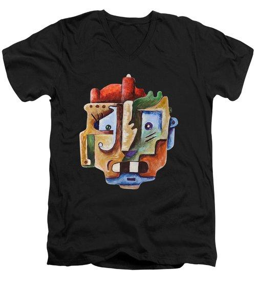 Surrealist Head Men's V-Neck T-Shirt