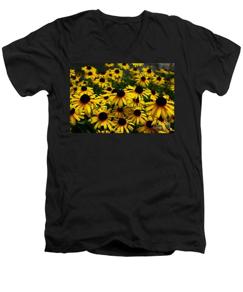 Sweet Flowers Men's V-Neck T-Shirt by John S