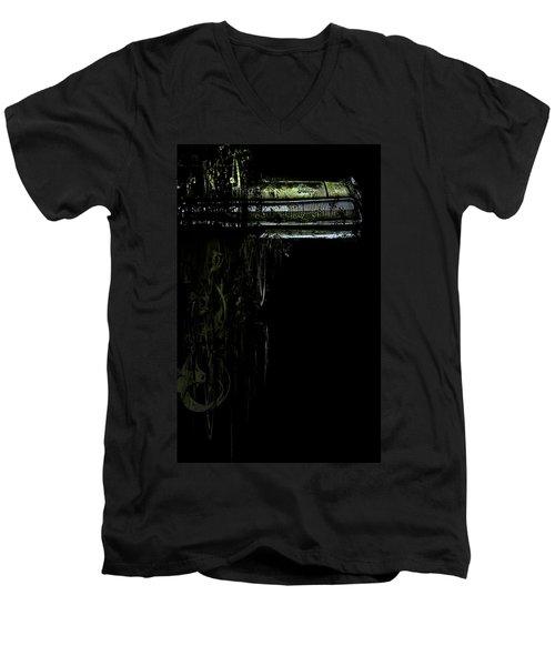T Shirt Deconstruct Green Dodge Bumper Men's V-Neck T-Shirt