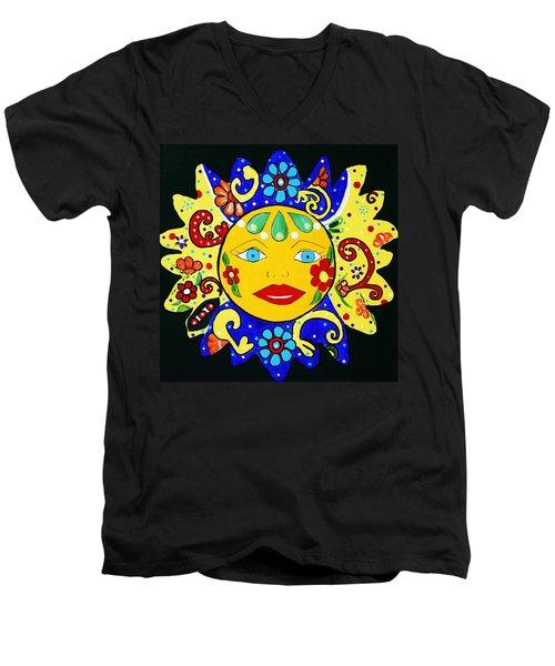 Talavera Sun Men's V-Neck T-Shirt