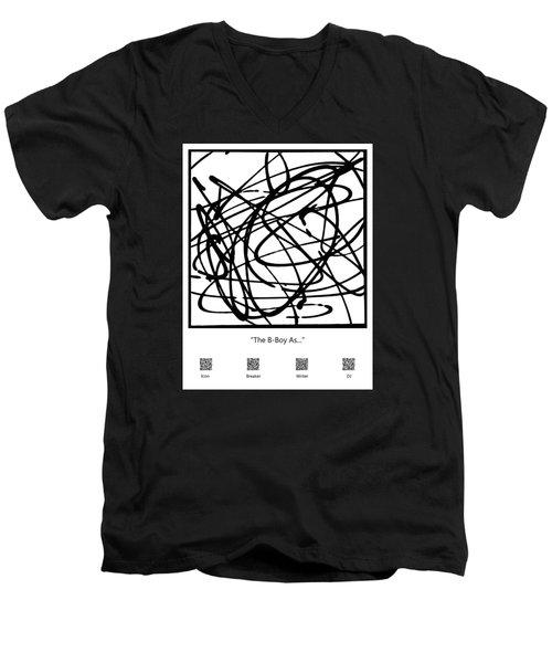 The B-boy As... Men's V-Neck T-Shirt by Ismael Cavazos