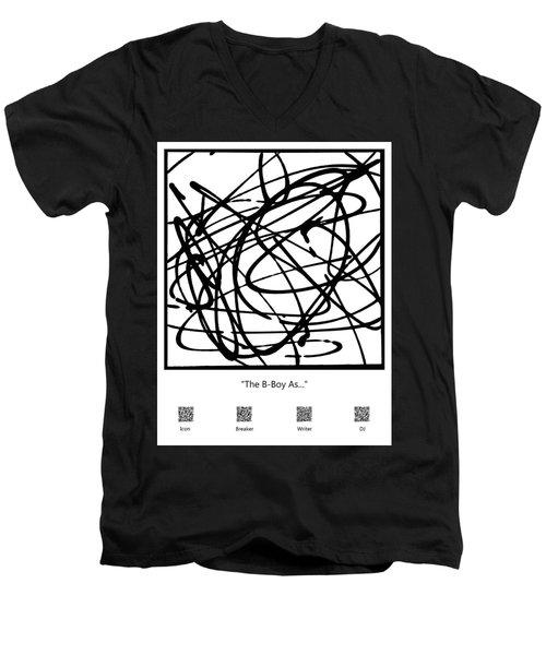The B-boy As... Men's V-Neck T-Shirt
