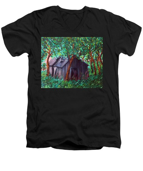 The Barn Men's V-Neck T-Shirt by Felix Concepcion