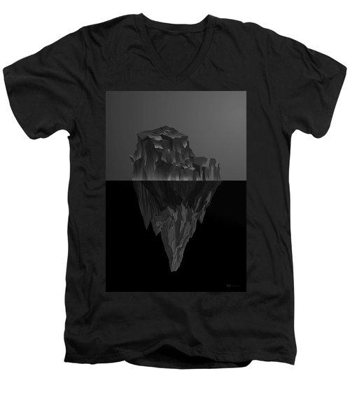 The Black Iceberg Men's V-Neck T-Shirt by Serge Averbukh