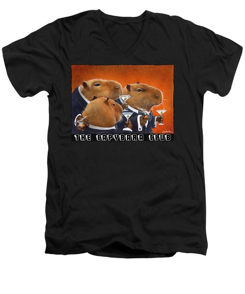 The Capybara Club Men's V-Neck T-Shirt by Will Bullas