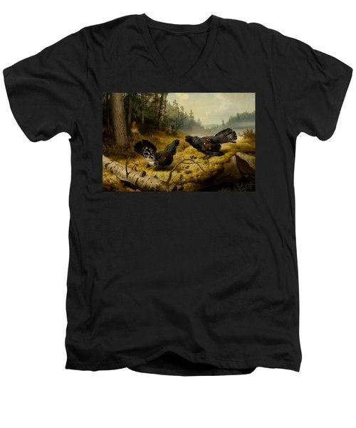 The Fighting Capercaillies Men's V-Neck T-Shirt