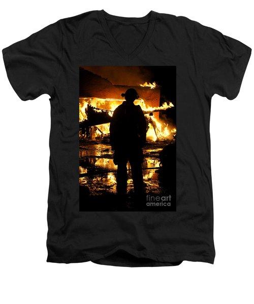 The Fireman Men's V-Neck T-Shirt