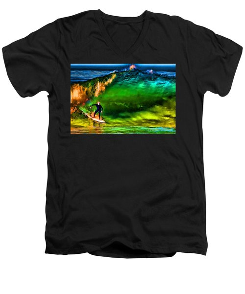 Men's V-Neck T-Shirt featuring the photograph The Shadow Within by John A Rodriguez