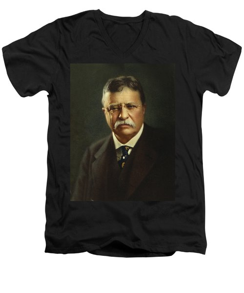 Theodore Roosevelt - President Of The United States Men's V-Neck T-Shirt