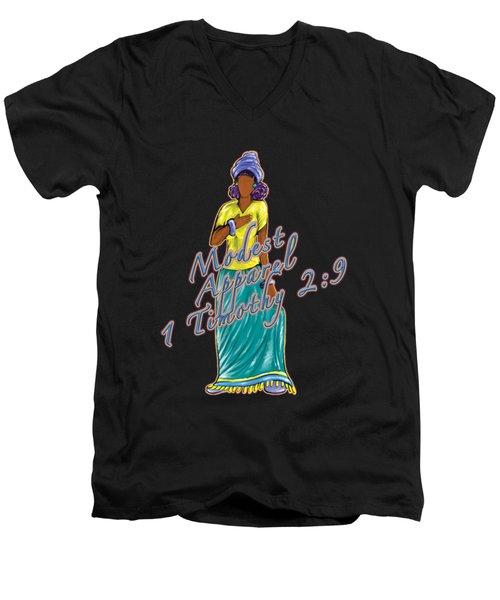 1 Timothy 2vs.9 Modest Apparel Men's V-Neck T-Shirt