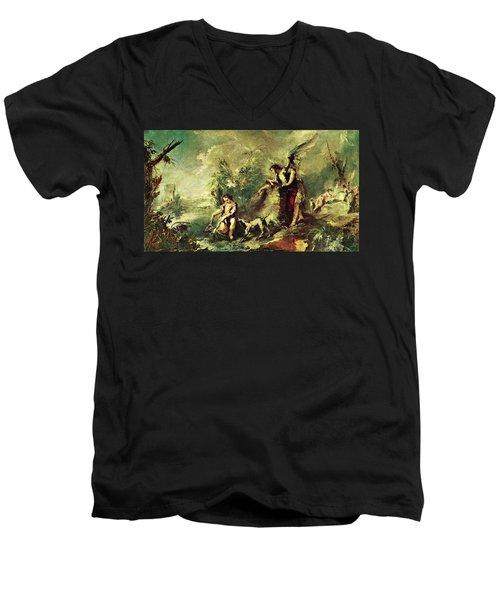 Tobias Fishing Men's V-Neck T-Shirt
