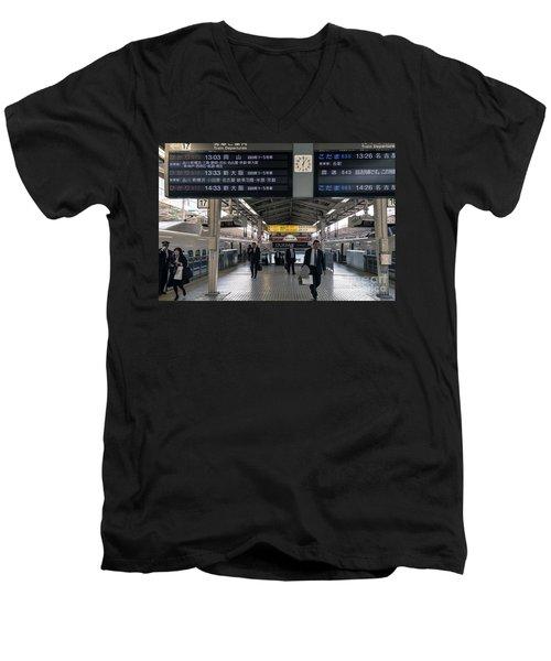 Tokyo To Kyoto, Bullet Train, Japan 3 Men's V-Neck T-Shirt