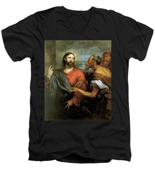 Tribute Money Men's V-Neck T-Shirt
