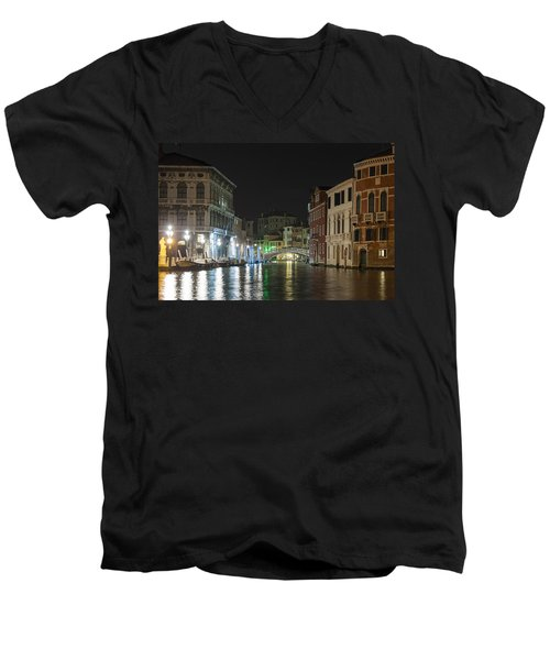 Romantic Venice  Men's V-Neck T-Shirt by Silvia Bruno