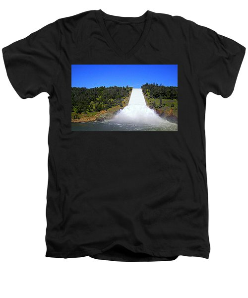 Men's V-Neck T-Shirt featuring the photograph Water by AJ Schibig