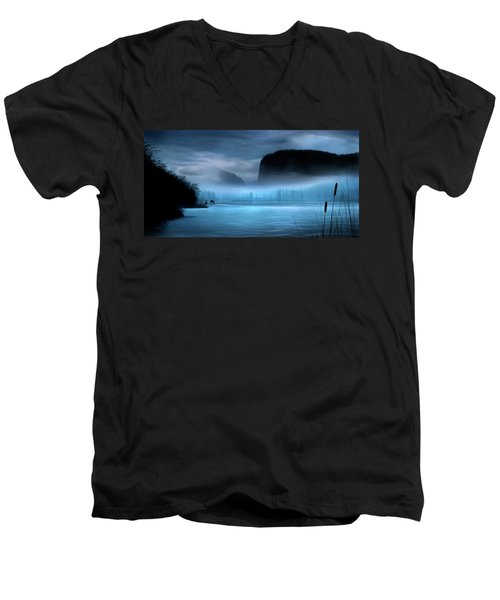 Men's V-Neck T-Shirt featuring the photograph While You Were Sleeping by John Poon