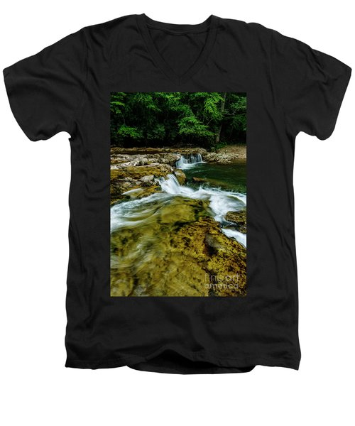 Whitaker Falls In Summer Men's V-Neck T-Shirt