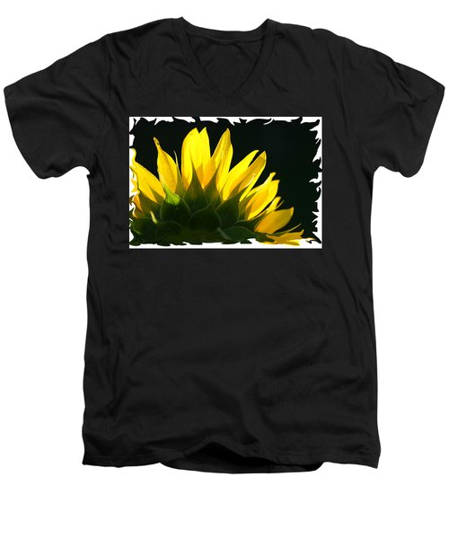Men's V-Neck T-Shirt featuring the photograph Wild Sunflower by Shari Jardina