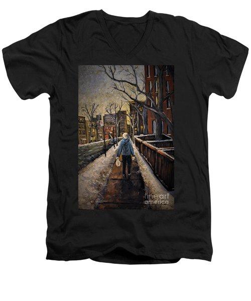 Winter In The City Men's V-Neck T-Shirt