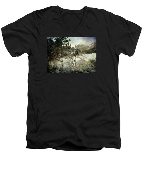 Winter Mood Men's V-Neck T-Shirt by Vittorio Chiampan