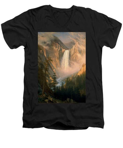 Yellowstone Falls Men's V-Neck T-Shirt