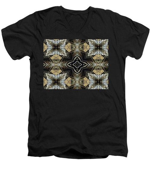 Zebra V Men's V-Neck T-Shirt by Maria Watt