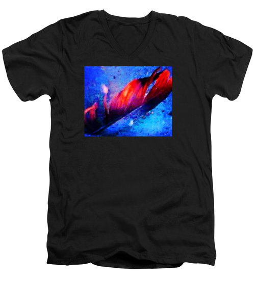 Men's V-Neck T-Shirt featuring the photograph 108 by Timothy Bulone