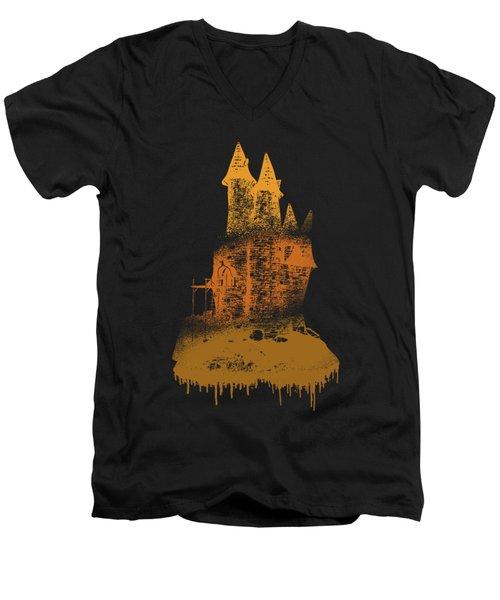 Paint Drips Men's V-Neck T-Shirt by Solomon Barroa