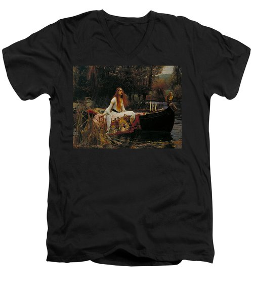 The Lady Of Shalott Men's V-Neck T-Shirt