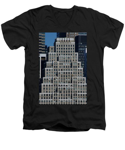 120 Wall Street Nyc Men's V-Neck T-Shirt