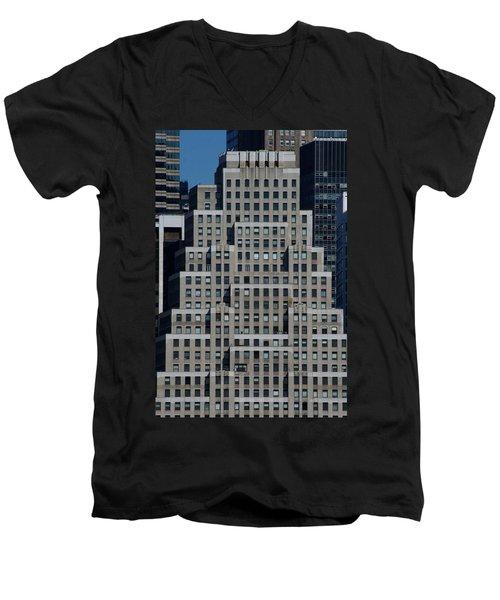 120 Wall Street Nyc Men's V-Neck T-Shirt
