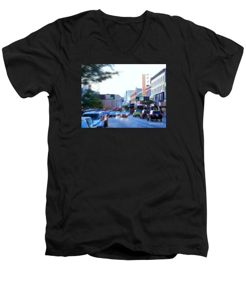 125th Street Harlem Nyc Men's V-Neck T-Shirt