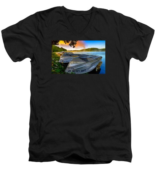 Lake Logan 2 Men's V-Neck T-Shirt