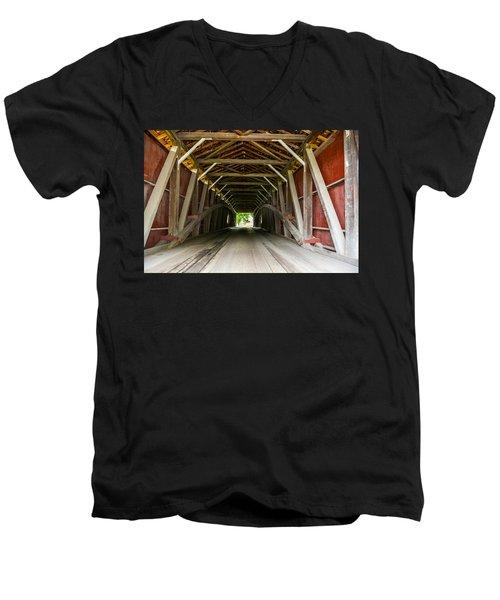 143 Feet Of Covered Bridge Men's V-Neck T-Shirt