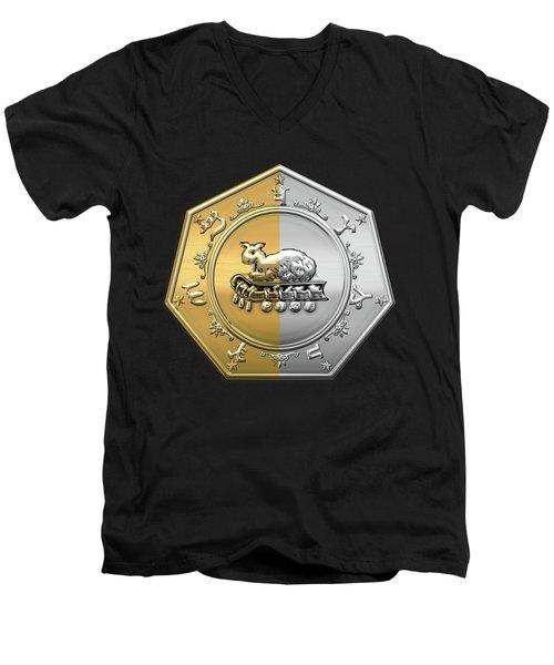 17th Degree Mason - Knight Of The East And West Masonic Jewel  Men's V-Neck T-Shirt
