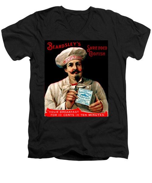 1895 Shredded Codfish Breakfast Men's V-Neck T-Shirt