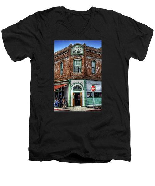 1898 Hotel Connor - Jerome Arizona Men's V-Neck T-Shirt by Saija  Lehtonen