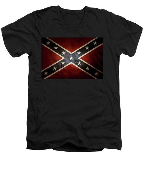 Confederate Flag 12 Men's V-Neck T-Shirt
