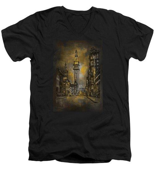 1910y Madison Avenue Ny. Men's V-Neck T-Shirt by Andrzej Szczerski