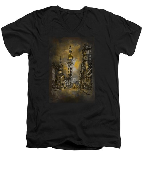 1910y Madison Avenue Ny. Men's V-Neck T-Shirt