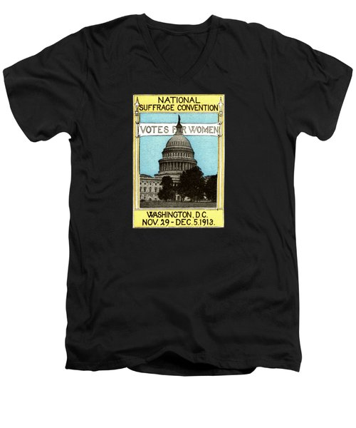 1913 Votes For Women Men's V-Neck T-Shirt by Historic Image