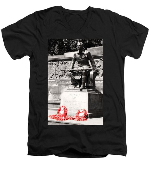 1914 The Call Men's V-Neck T-Shirt by Martina Fagan